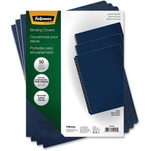 Fellowes Executive™ Presentation Covers - Oversize, Navy, 50 pack