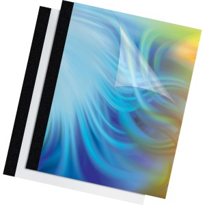 "Fellowes Thermal Presentation Covers - 1/8"", 30 sheets, Black"
