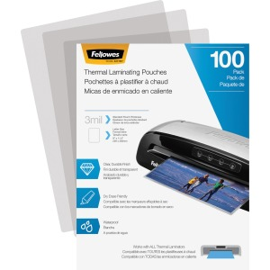 Fellowes Thermal Laminating Pouches - Letter, 3 mil, 100 pack