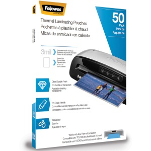 Fellowes Thermal Laminating Pouches - Letter, 3mil, 50 pack