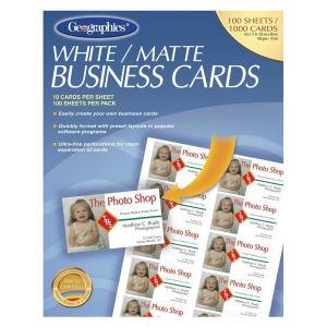Geographics Inkjet, Laser Business Card - 30% Recycled