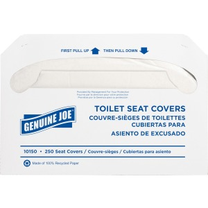 Genuine Joe Half-fold Toilet Seat Covers