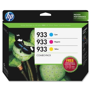 HP 933 Combo Creative Pack-10 sht/4 x 6 in and 10 sht/5 x 7 in