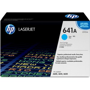HP 641A (C9721A) Original Toner Cartridge - Single Pack