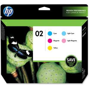 HP 02 5-pack Cyan/Magenta/Yellow/Lt Cyan/Lt Magenta Original Inks