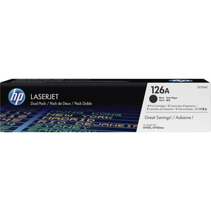 HP 126A (CE310AD) Original Toner Cartridge - Dual Pack