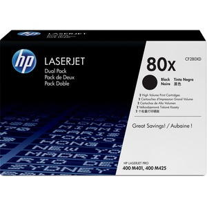 HP 80X Original Toner Cartridge Dual Pack - Black - Dual Pack