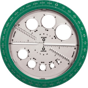 Helix Angle and Circle Protractor