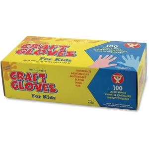 Hygloss Kids Colored Latex Craft Gloves