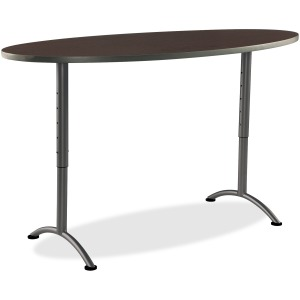 Iceberg Arc Adjustable Height Table 36X72 Oval, Walnut