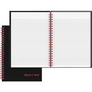 Black n' Red Wirebound Ruled Notebook - A5