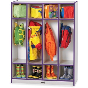 Rainbow Accents 4 Section Coat Locker
