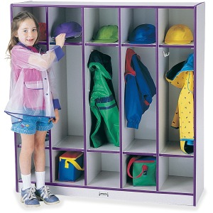 Rainbow Accents 5-section Coat Locker