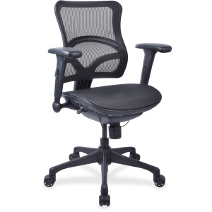 Lorell Full Mesh Mid-back Chair
