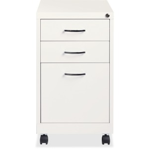 Lorell White 3-drawer Mobile Pedestal File