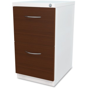 Lorell File/File Laminate Wood Mobile Pedestal