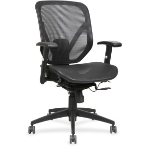 Lorell Mesh Seat/Back Mid-back Chair