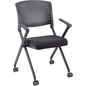 Lorell Plastic Arms/Back Nesting Chair
