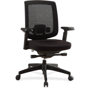 Lorell Mid-Back Mesh Chair with Adjustable Arms