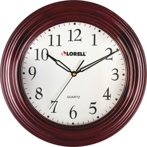 "Lorell 13-1/4"" Woodgrain Wall Clock"