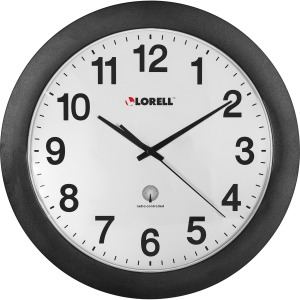"Lorell 12"" Round Radio Controlled Wall Clock"