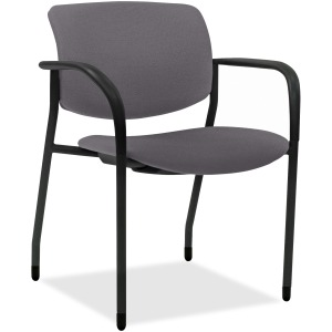 Lorell Stack Chairs with Vinyl Seat & Back