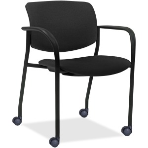 Lorell Stack Chairs with Plastic Back & Vinyl Seat