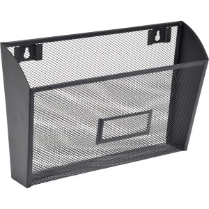 Lorell Black Mesh Wire Wall Pocket