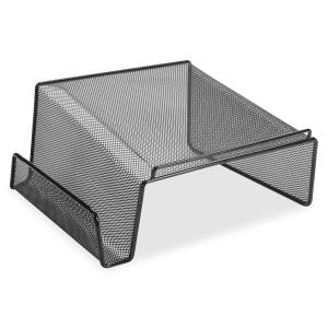 Lorell Black Mesh/Wire Angled Height Mesh Phone Stand