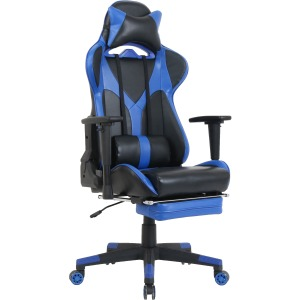 Lorell Foldable Footrest High-back Gaming Chair