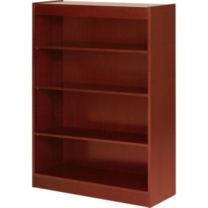 Lorell Four Shelf Panel Bookcase
