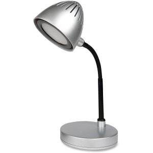 Lorell Silver Shade LED Desk Lamp