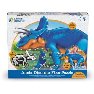 Learning Resources Jumbo Dinosaur Floor Puzzle - Triceratops