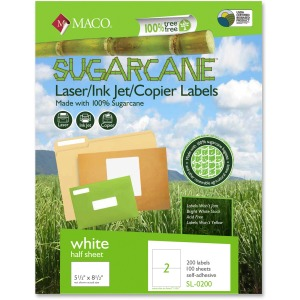 MACO Laser / Ink Jet / Copier Sugarcane Internet Shipping Labels