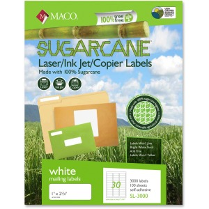 MACO Laser / Ink Jet File / Copier Sugarcane Address Labels