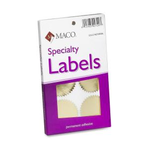 Maco Notary Gold Foil Seals
