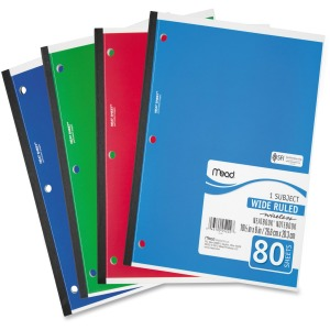 Mead 05222 1-Subject Wireless Notebook