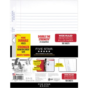 Five Star Reinforced Filler Paper