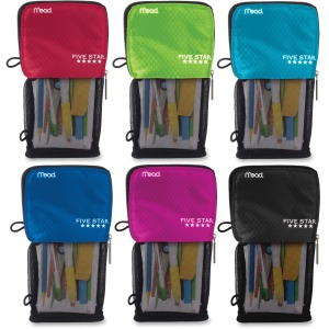 Five Star Stand 'N Store Carrying Case (Pouch) Pencil, Accessories - Assorted