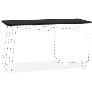 Mayline Glass Top for 2-Drawer Pedestal V-Desk Base