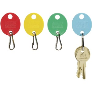 MMF Snap Hook Colored Oval Key Tags