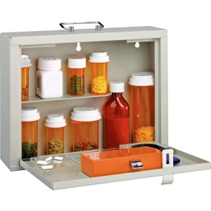 MMF Premium Steel Medication Case