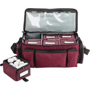 MMF Med-Master Carrying Case Medicine - Burgundy