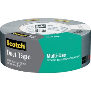 "Scotch® Multi-Use Duct Tape 1.88"" x 60 yd, Gray"