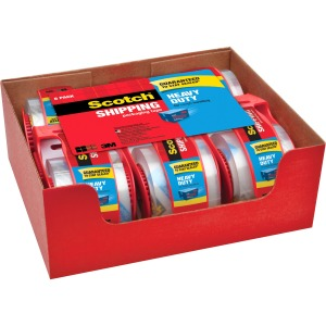"Scotch® Heavy Duty Shipping Packaging Tape 1.88"" x 66.6'"