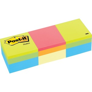 "Post-it® Notes Cube, 2 "" x 2 "", Green Wave and Canary Wave"