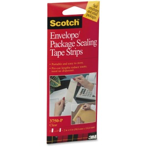 "3M Scotch™ Package Sealing Tape Sheets, 2"" x 6"""