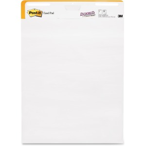 Post-it Self-Stick Wall Pad, Short Backcard Format, 25 in x 30 in, White