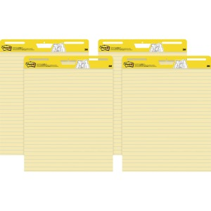 Post-it Self-Stick Easel Pads Value Pack, 25 in x 30 in, Yellow with Faint Rule