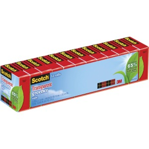 "Scotch® Transparent Greener Tape, 3/4"" x 900"""